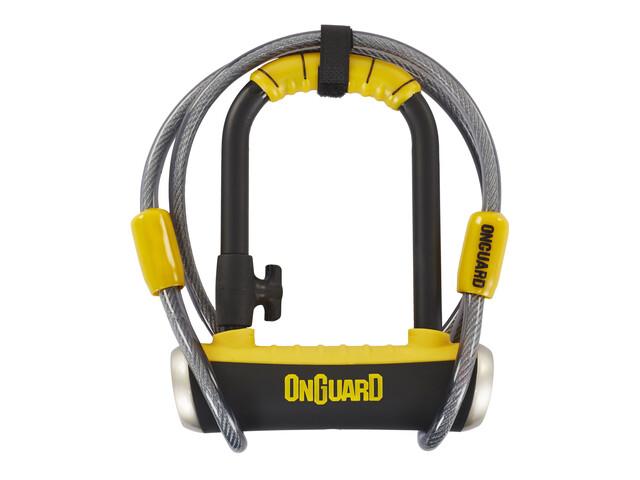 Onguard Pitbull Mini DT 8008 Pyörälukko 90x140mm , keltainen/musta
